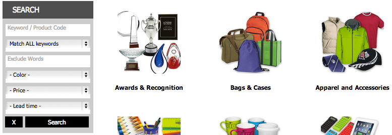 Promotional Products Search Page Closer - PTwoPromo